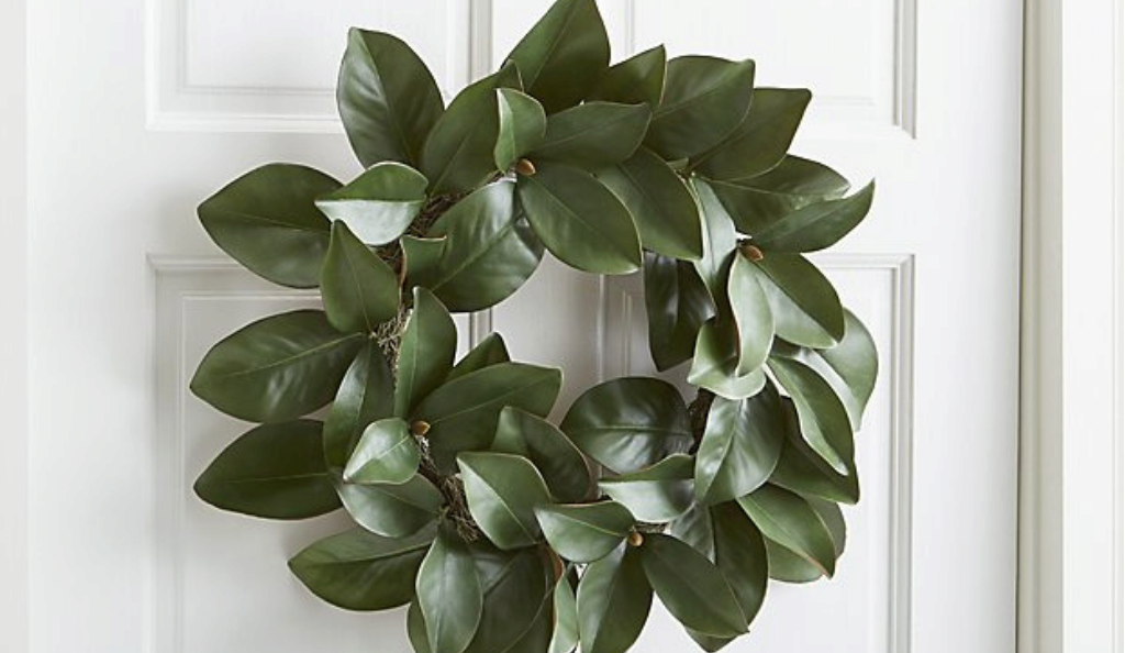 Magnolia wreath by Crate and Barrel