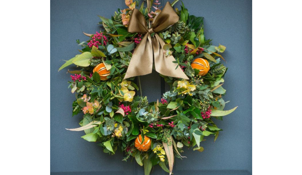 Citrus and Spice Door Wreath by The Real Flower Company
