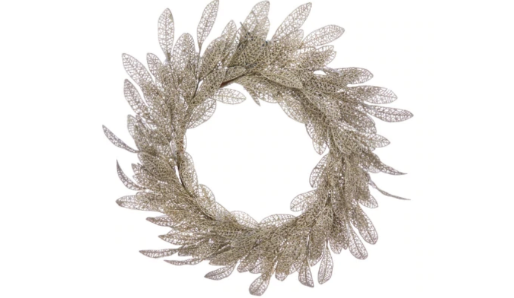 Champagne wreath by Laura Ashley