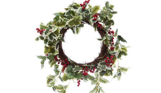 Holly wreath by Liberty London