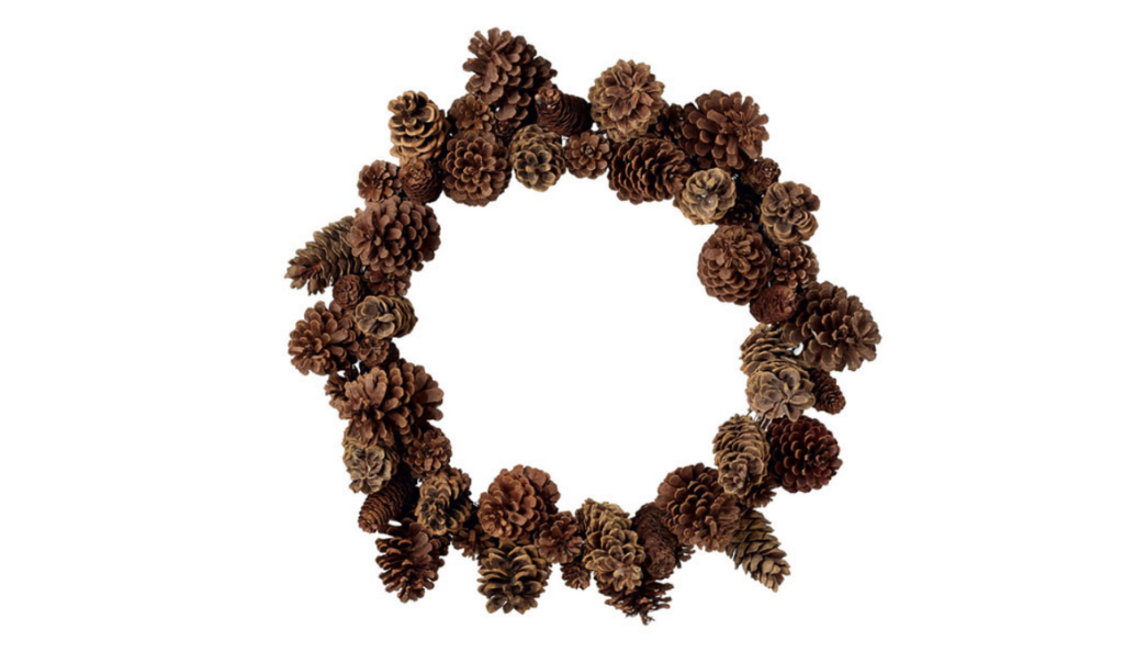 Pine cone wreath by OKA
