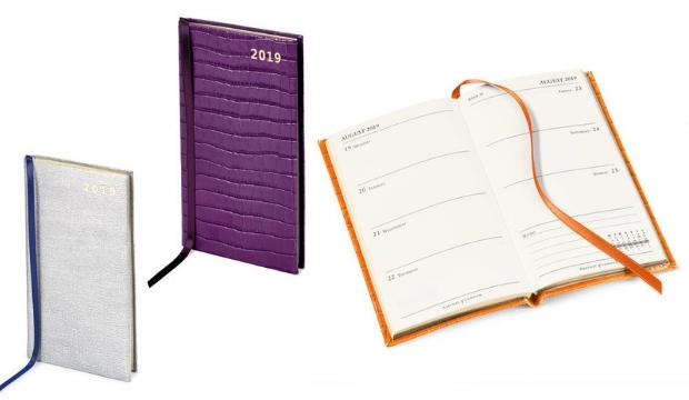 ​Tactile textures: Aspinal's Slim Pocket Diaries