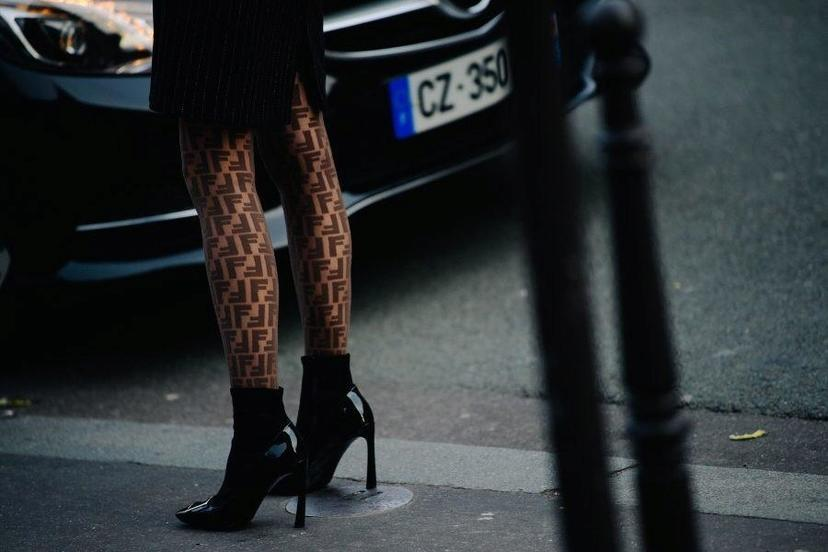 Fendi Logo Emblazoned Tights