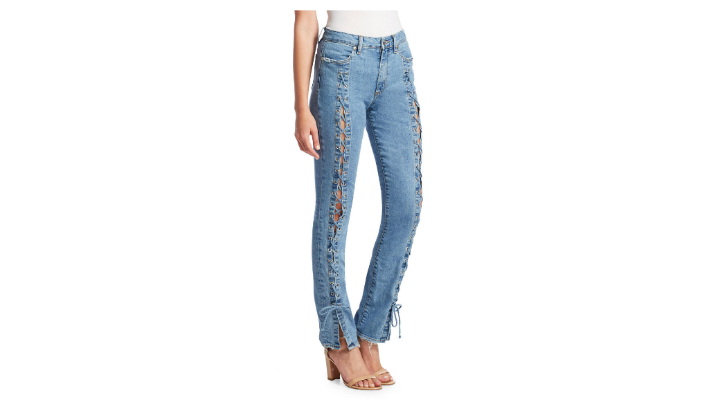 Jonathan Simkai Lace Up Jeans