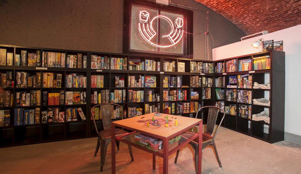 Board games at Draughts in Hackney
