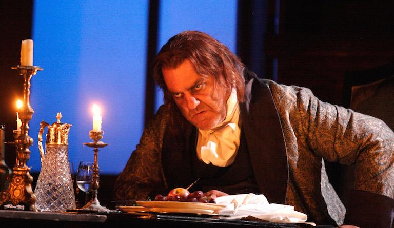 Bryn Terfel sings the villainous Scarpia in Tosca at Covent Garen. Photo: Catherine Ashmore