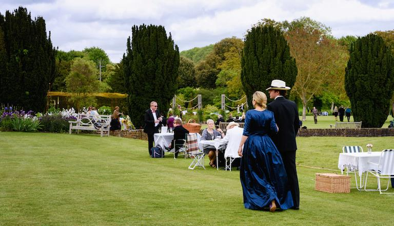 Picnicking in the long interval is a Glyndebourne tradition. Photo: James Bellorini