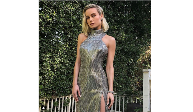 Brie Larson in Celine at the Academy Awards