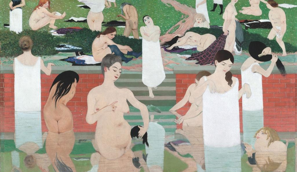 Félix Vallotton, Bathing on a Summer Evening (Le Bain au soir d'été), 1892-93. Kunsthaus Zürich, Gottfried Keller Foundation, Federal Office of Culture, Berne, 1965 © Kunsthaus Zürich.