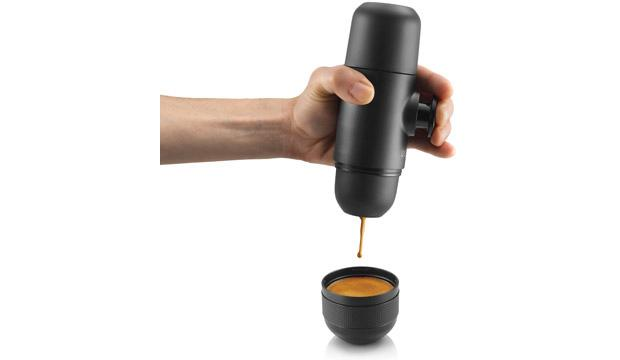 For the sleep-deprived dad: Minipresso by Wacoco portable espresso machine