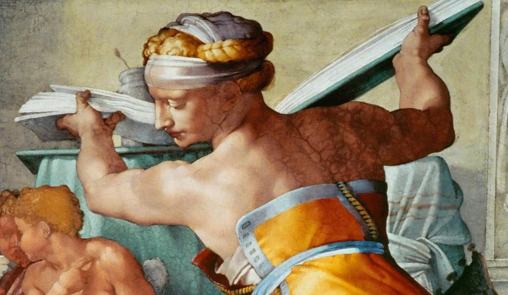 Michelangelo's Sistine Chapel: A Different View. Lybian Sybil