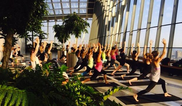 Sunrise yoga brunch, Sky Garden