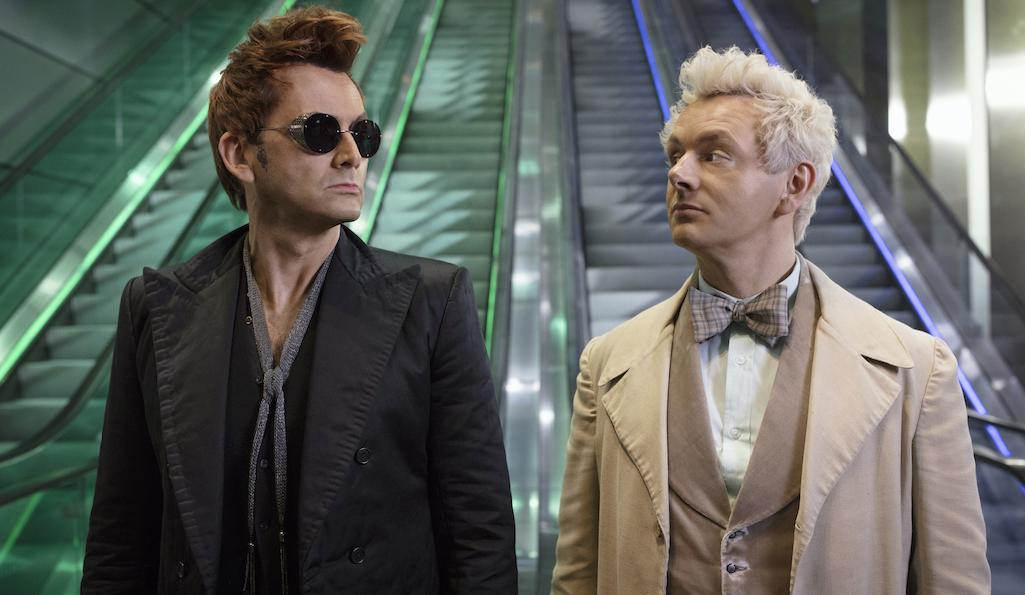 David Tennant and Michael Sheen in Good Omens, Amazon Prime