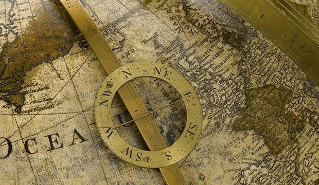 Detail of terrestrial globe, 1766, by George Adams for King George III © Science Museum Group