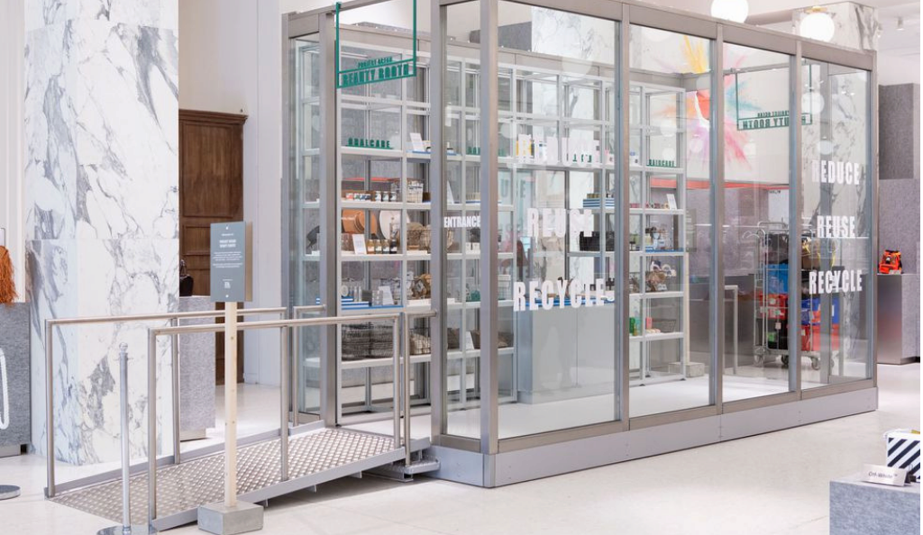 Selfridges launches Project Ocean beauty booth