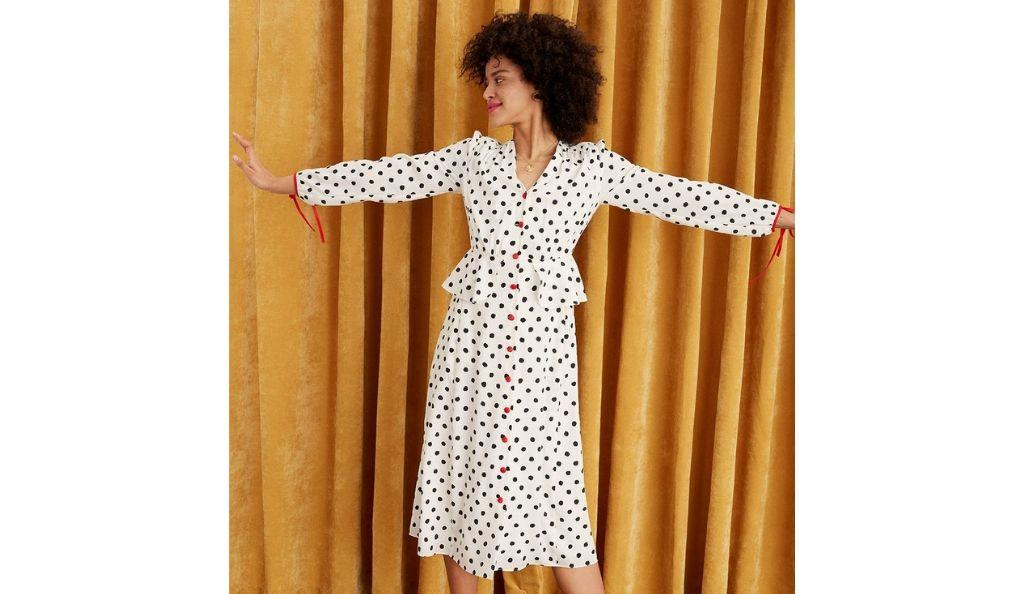Lana Polka Dot Vintage Dress by Kitri, £145
