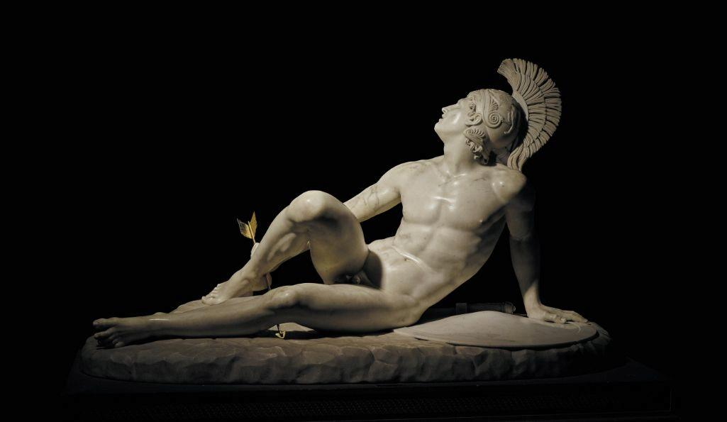 Filippo Albacini (1777-1858), The Wounded Achilles, 1825, marble, Chatsworth House Photograph © The Devonshire Collections, Chatsworth. Reproduced by permission of Chatsworth Settlement Trustees.