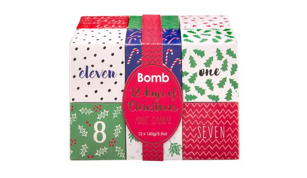 For the bath lover: Bomb Cosmetics 12 days of Christmas Advent Gift Set, £36