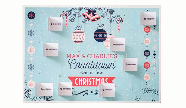 For the music fan: Personalised Spotify Music Advent Calendar, £17.99