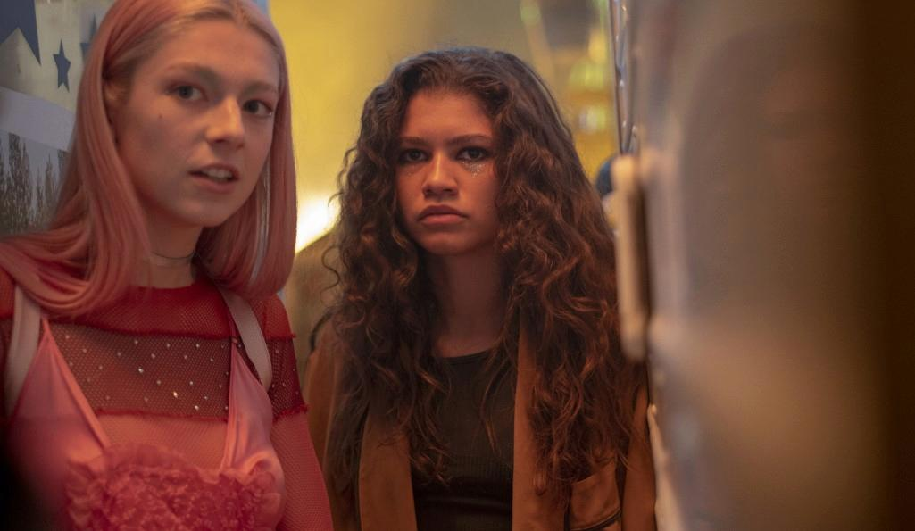 Hunter Schafer and Zendaya in Euphoria, Sky Atlantic