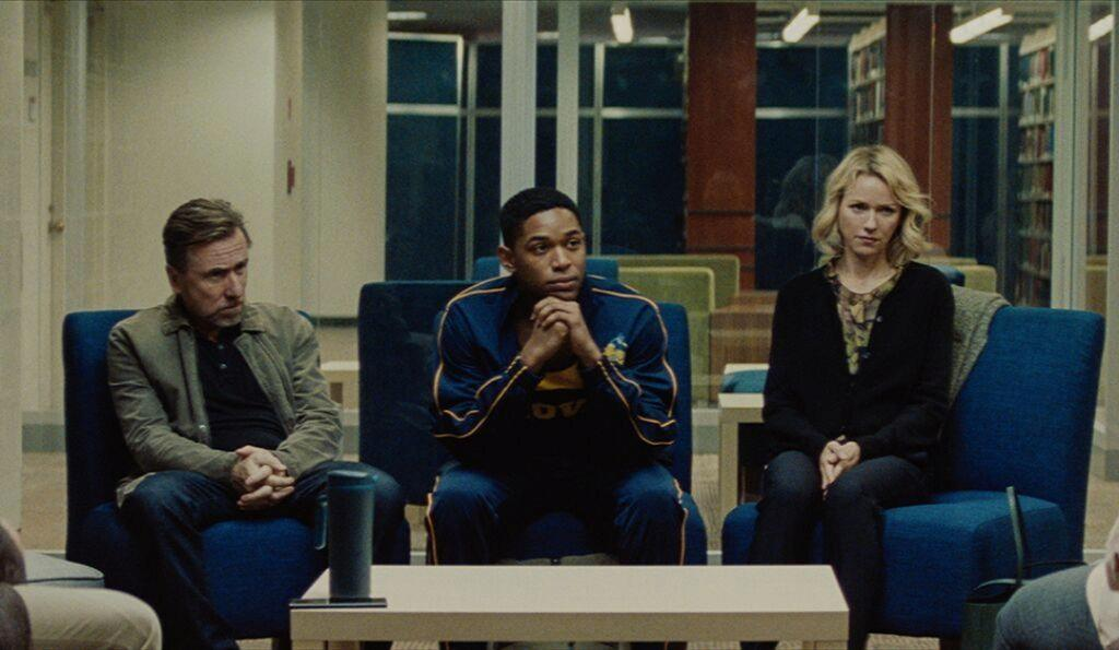 Tim Roth, Kelvin Harrison Jr. and Naomi Watts in Luce