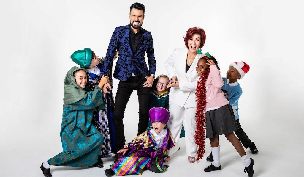 Sharon Osbourne and Rylan Clark-Neal in Nativity! The Musical