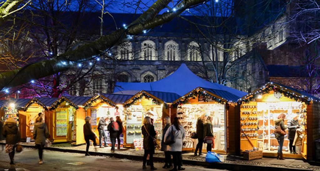 Winchester Cathedral's enchanting Christmas market