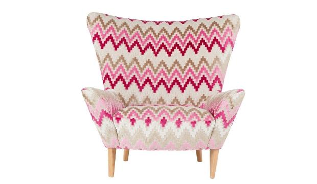 ​9. Content by Terence Conran Matador Armchair in Clarke & Clarke Empire Orchid, £1,395