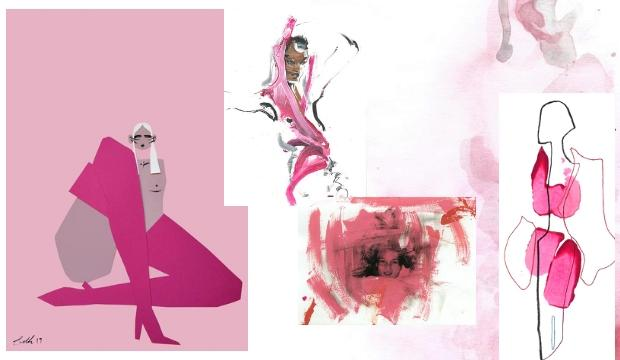 ​10. DRAWFASHION THINK PINK, Various Artworks at SHOWstudio, from £150