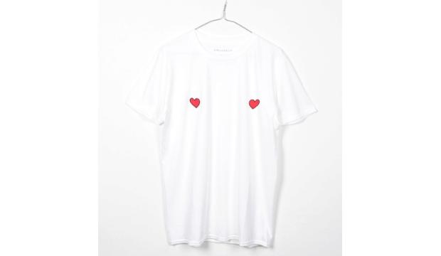 ​4. Girls v Cancer Love Hearts Tit Tee, £28