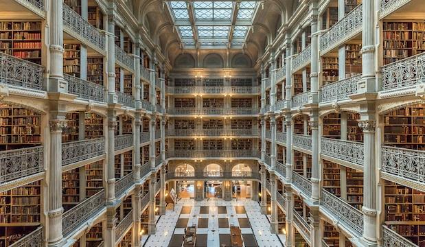 George Peabody Library in Baltimore, US