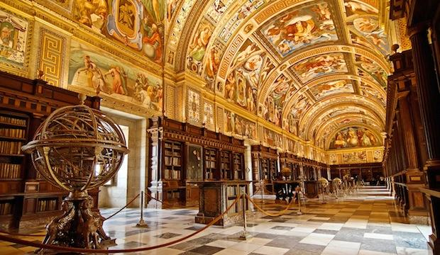 The Library at El Escorial in Madrid, Spain
