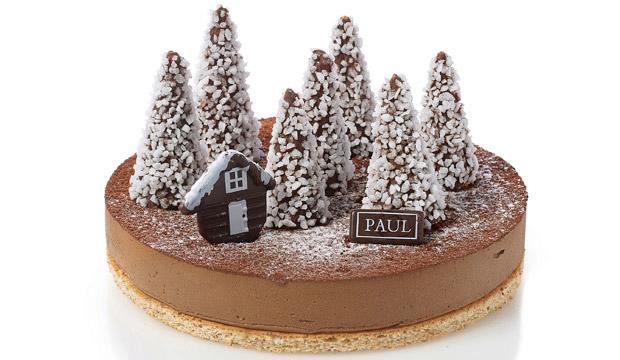 Best winter wonderland Christmas cake: PAUL Gâteau de Noël La Forêt d'Hiver