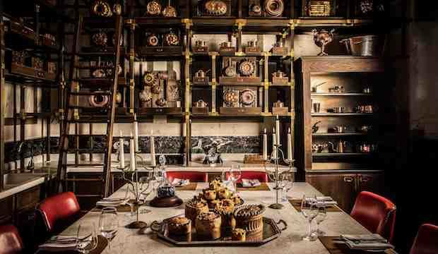 The world's only pie tasting menu at Holborn Pie Room, dine among culinary history