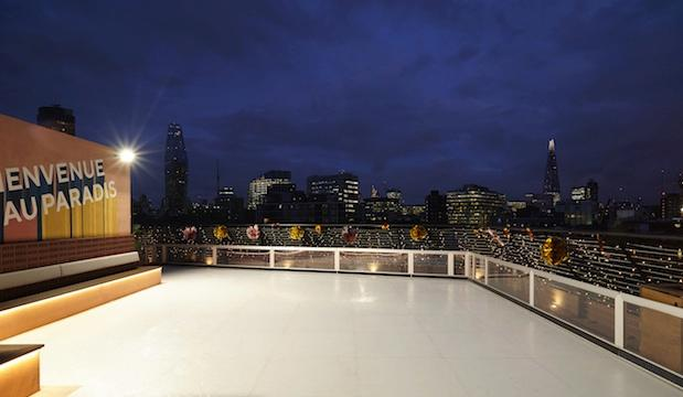 Bar Elba rooftop ice rink