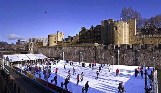 Tower of London ice rink, Tower Bridge