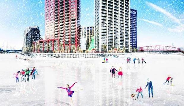 City Island ice rink, London City Island