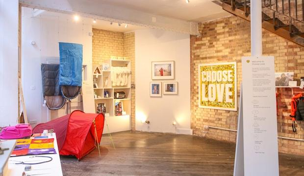 The concept store in aid of the refugee crisis: Choose Love