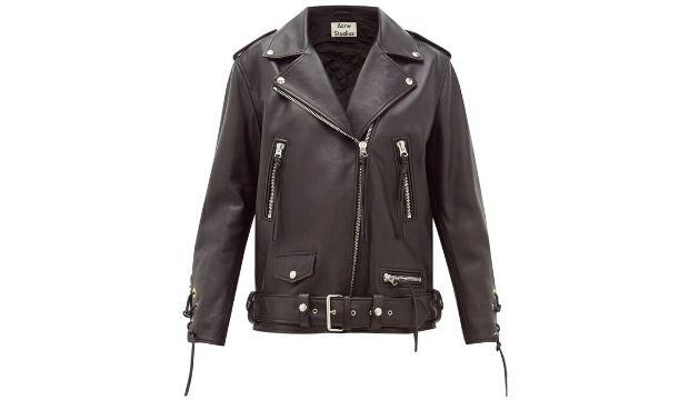 16. ​Acne Studios Lastrid lace up leather jacket