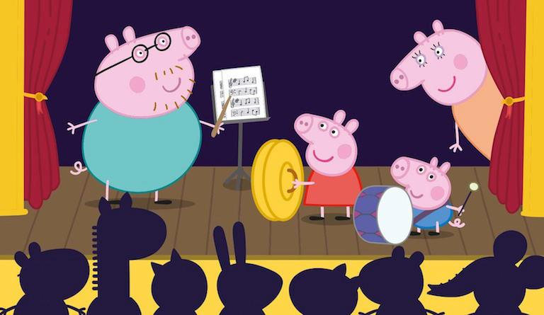 Peppa Pig welcomes children into the magical world of music
