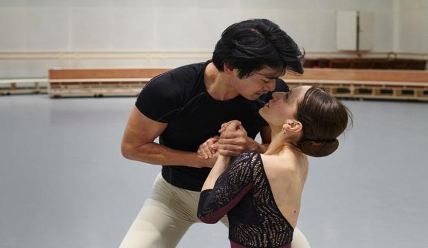 Gavin Smart Onegin Rehearsal, dancers Marianela Nuñez and Ryoichi Hirano,