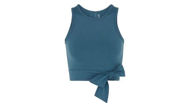 ​Live The Process Ballet teal cropped top £105