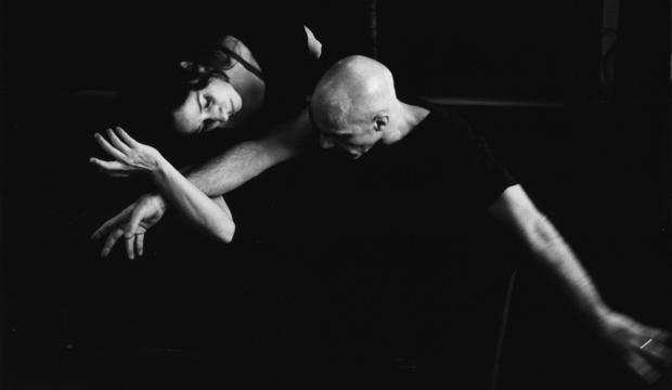 Russell Maliphant and Dana Fouras in rehearsal, photo Nicola Bensley