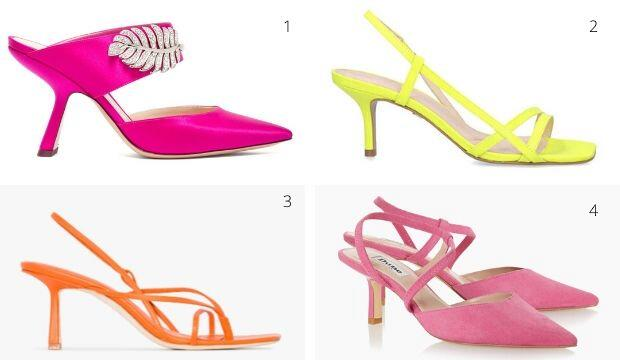 Brightly coloured wedding shoes