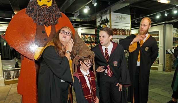 Get sorted into your Hogwarts house at Hamleys