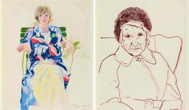 Deliberate the drawings of David Hockney