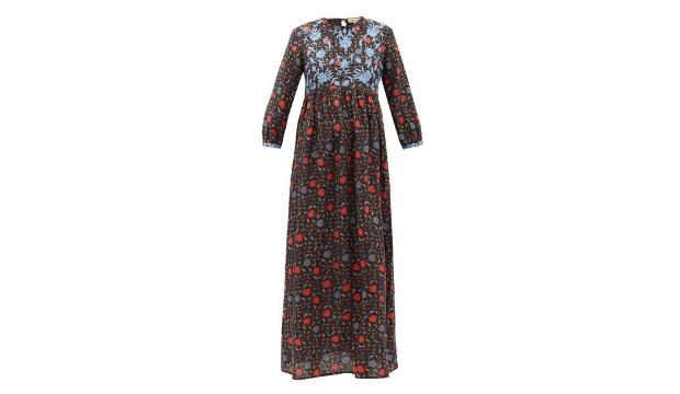 Muzungu Sisters Floral-embroidered linen dress, £600
