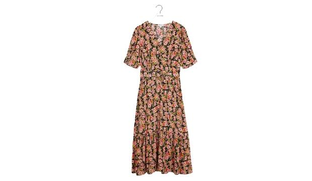 Warehouse Belted waist floral midi dress, was £69 now £55.20