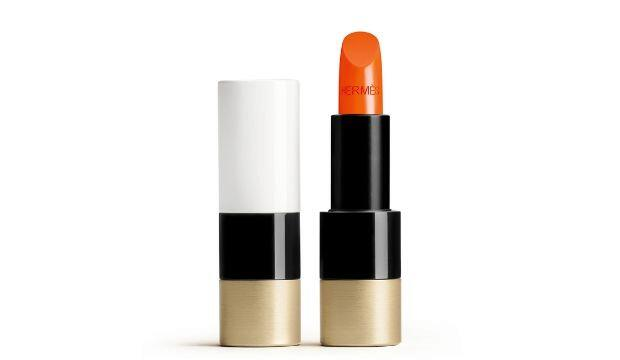 ​Hermes Rouge Satin Lipstick in Orange Bo Te, £58