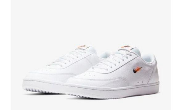 The clean white trainers